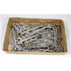 APPROX 35 COMBINATION WRENCHES VARIOUS SIZES