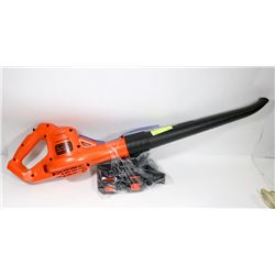 BLACK AND DECKER 20V MAX LITHIUM ION SWEEPER.