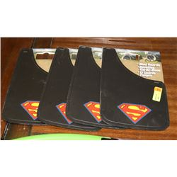 SET OF 4 SUPERMAN MUD FLAPS