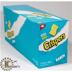 CASE WITH 12 70G BAGS OF RANCH CRISPERS