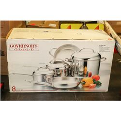 8PC GOVERNORS TABLE POT AND PAN SET
