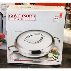 "11"" GOVERNORS TABLE CASSEROLE PAN W/LID"