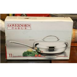 "11"" GOVERNORS TABLE FRENCH SKILLET W/LID"