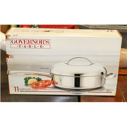 "11"" GOVERNORS TABLE SAUTE PAN W/LID"