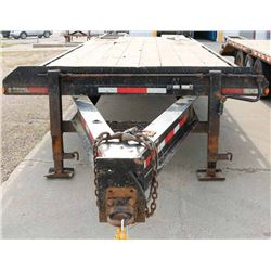 NORBERTS 25' TANDEM DUALLY FLAT DECK PINTLE TOW.