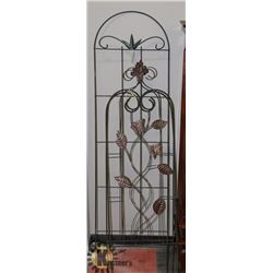 "3 METAL GARDEN DIVIDERS 70"" TO 60"" TALL"