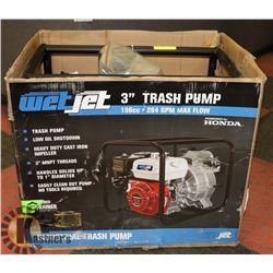 "NEW 3"" TRASH WATER PUMP WITH 196CC HONDA GX200"