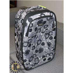 DIONITE GREY SUITCASE ON WHEELS