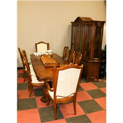 DINING ROOM SET INCLUDING 8 CHAIRS, DINING ROOM