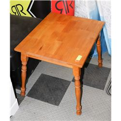 """WOOD RECTANGLE END TABLE, 24""""X20""""X20""""."""