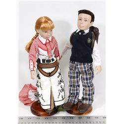 """LOT OF 2 GENE COLLECTION DOLLS 12""""H, COWGIRL W/"""