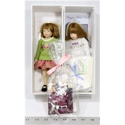 """LOT OF 2 MAGGIE MADE DOLLS - 2009 """"LACEY"""" &"""