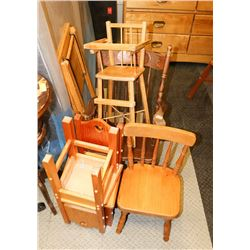 LOT OF 5 KIDS CHAIRS AND ROCKING CHAIRS