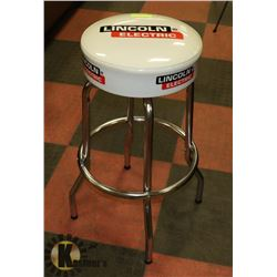 WHITE LINCOLN ELECTRIC BAR STOOL