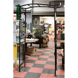 NEW PACIFIC RIM BLACK WROUGHT IRON ARBOUR -