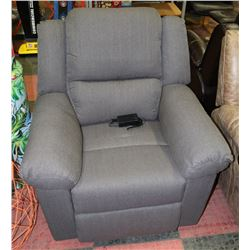 """NEW 36"""" GREY FABRIC ELECTRIC RECLINING CHAIR"""