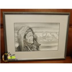 """FRAMED MATTED """"THOUGHTS OF THE PAST"""" SIGNED"""