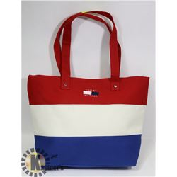 TOMMY HILFIGER REPLICA RED, BLUE, WHITE PURSE