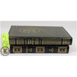 2 BOUND IN GENUINE LEATHER EASTON PRESS GOLD