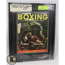 VINTAGE BOXING MAGAZINE FRAMED 62 YEARS OLD