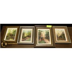 SET OF 4 ESTATE OIL ON CANVAS SIGNED FRIEDL,