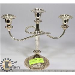 SILVER PLATED CANDLEABRA.