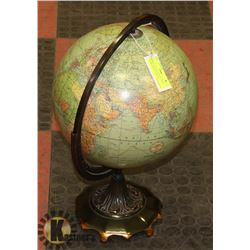 WEBER COSTELLO COLLECTIBLE GLOBE ON HEAVY METAL