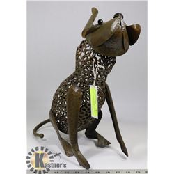 "METAL DECORATIVE DOG 15"" TALL"