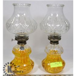 PAIR OF COAL OIL LAMPS.