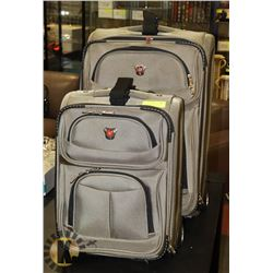 PAIR OF SWISS GEAR LUGGAGE.