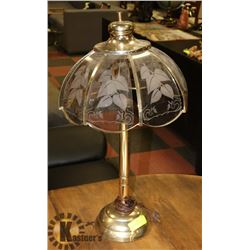 GLASS SHADE LIVING ROOM TABLE LAMP.