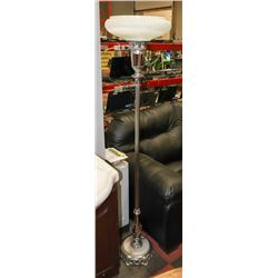 VINTAGE CHROME AND MARBLE BASE FLOOR LAMP
