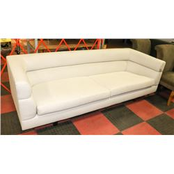 "MODERN HIGH BACK FABRIC 91"" SOFA (NEEDS CLEANING)"