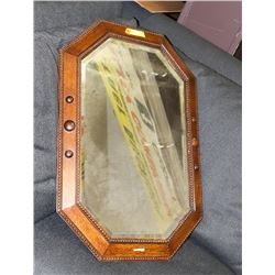 VINTAGE STYLE WOOD FRAMED MIRROR