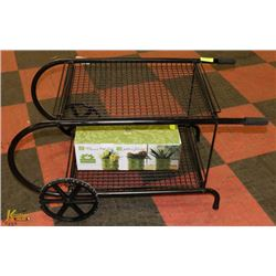 PATIO/GARDEN WHEELED CART WITH ROSCHER CERAMIC