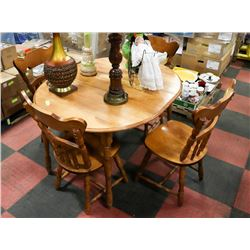 VINTAGE WOOD TABLE W/4 CHAIRS