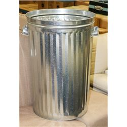 NEW STAINLESS STEEL GARBAGE CAN