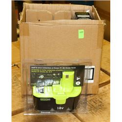 CASE WITH 4 NEW POWER IT 18 VOLT POWER TOOL