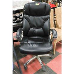 LEATHERETTE ADJUSTABLE OFFICE DESK CHAIR