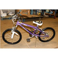 "NAKAMURA 6 SPEED BIKE 20"" TIRES PURPLE."