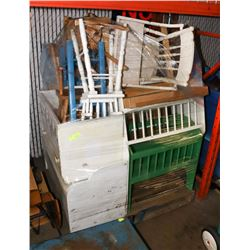 PALLET OF CHILDRENS / DOLL FURNITURE