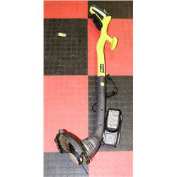 RYOBI CORDLESS WEEDEATER W/ BATTERY & CHARGER