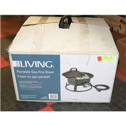 FOR LIVING PORTABLE GAS FIRE BOWL.