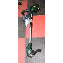 YARDWORKS CORDLESS WEEDEATER WITH EXTRA STRING &
