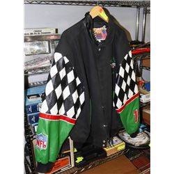 INTERSTATE LEATHER RACING/NFL JACKET XXL