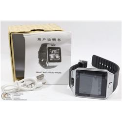 NEW BLK/SS BLUETOOTH SMARTWATCH WITH CAMERA