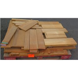 "Teak Bundle, 100 Total Board Ft, 1"" & 2"" x 4' Ave Per Piece"