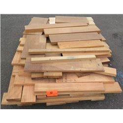"Teak, Mahogany Bundle, 150 Total Board Ft, 1"" & 2"" x 5' Ave Per Piece"