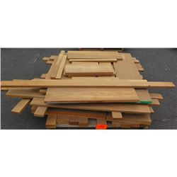 "Teak Bundle, 170 Total Board Ft, 1"" & 2"" x 4' Ave Per Piece"
