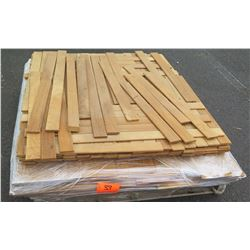 "Teak Bundle: Louver Blades Approx. 150 LF, 1/4"" x 1-3/4"", Veneers Approx. 120 LF, 1/8"" thick, 5-6"" w"